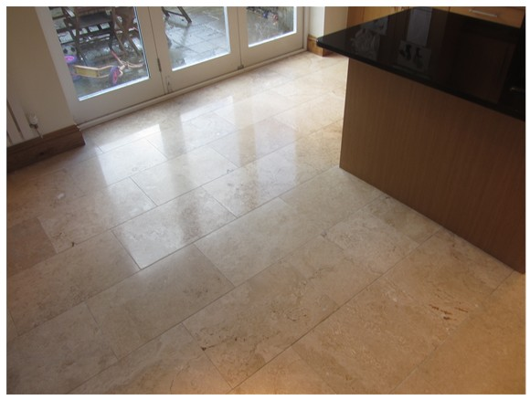 Fixing Tile Grout : Travertine tile repair cleaning in stockport